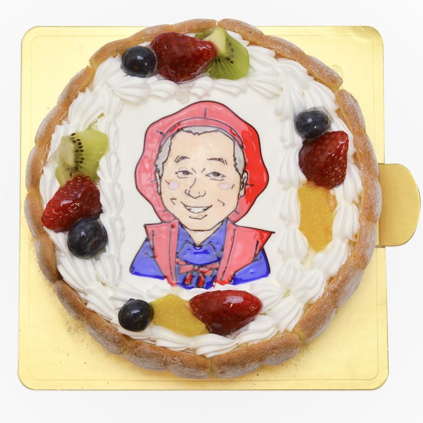 似顔絵ケーキ 古希祝い