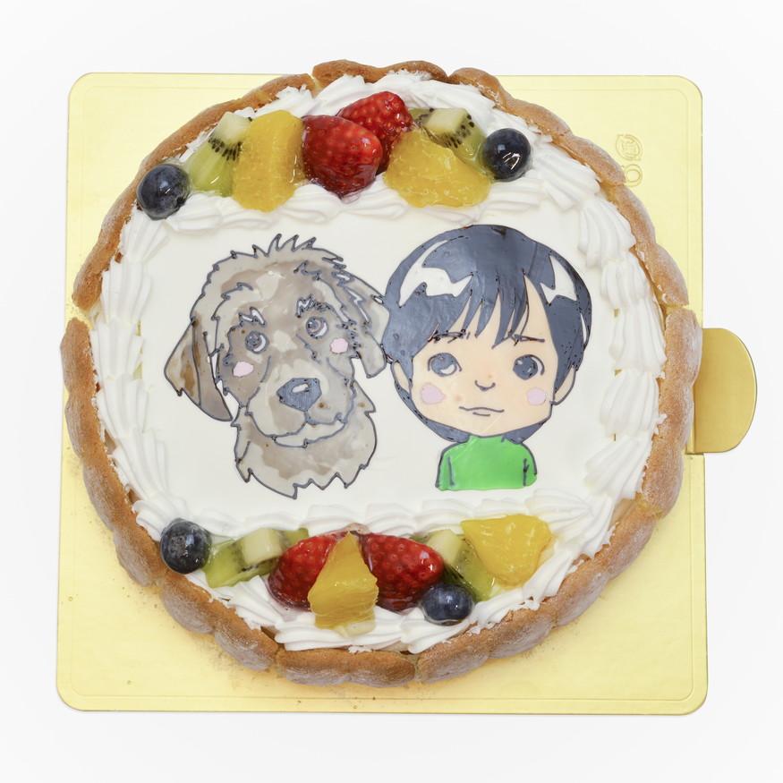 似顔絵ケーキ 犬