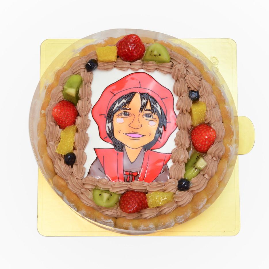 似顔絵ケーキ 還暦のお祝い