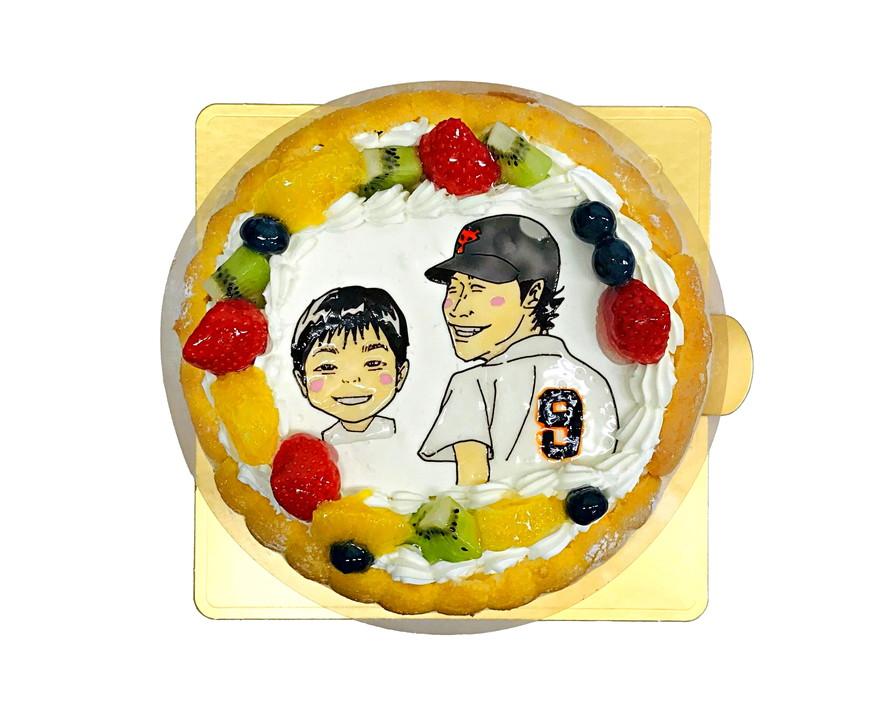 野球選手 似顔絵ケーキ