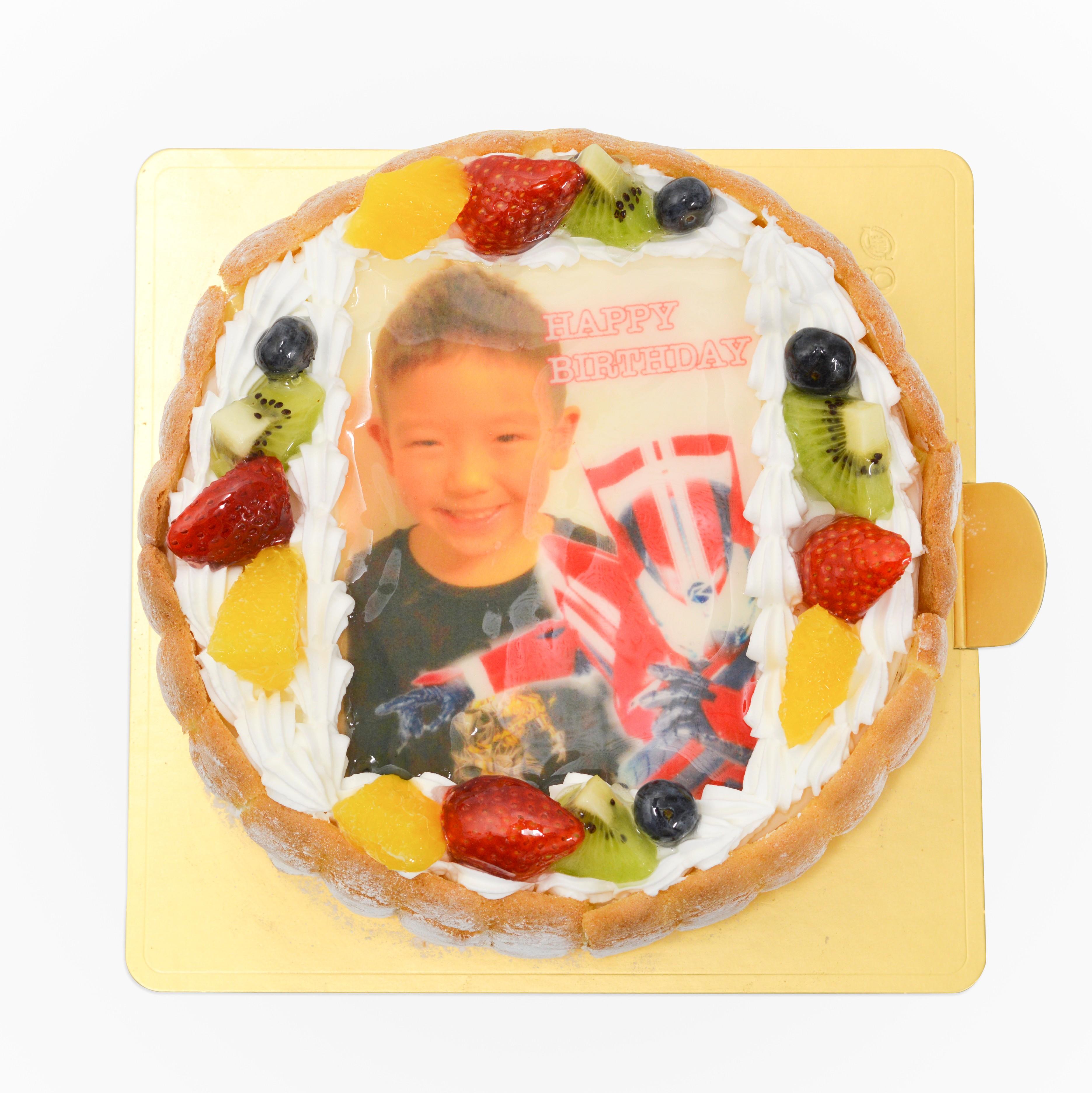 写真ケーキ 仮面ライダードライブ
