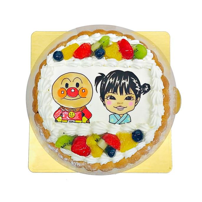 アンパンマン 似顔絵ケーキ