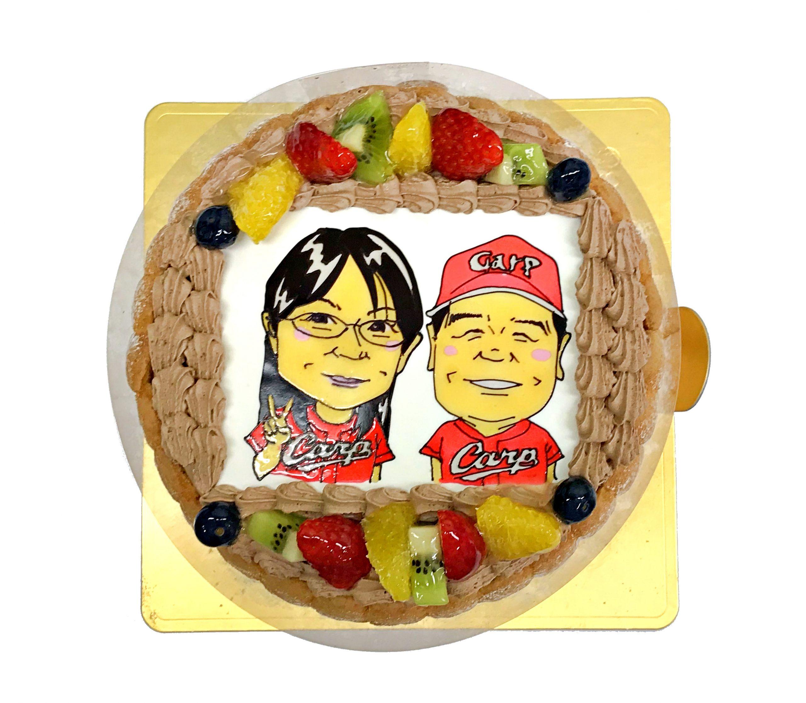 似顔絵ケーキ 広島カープ
