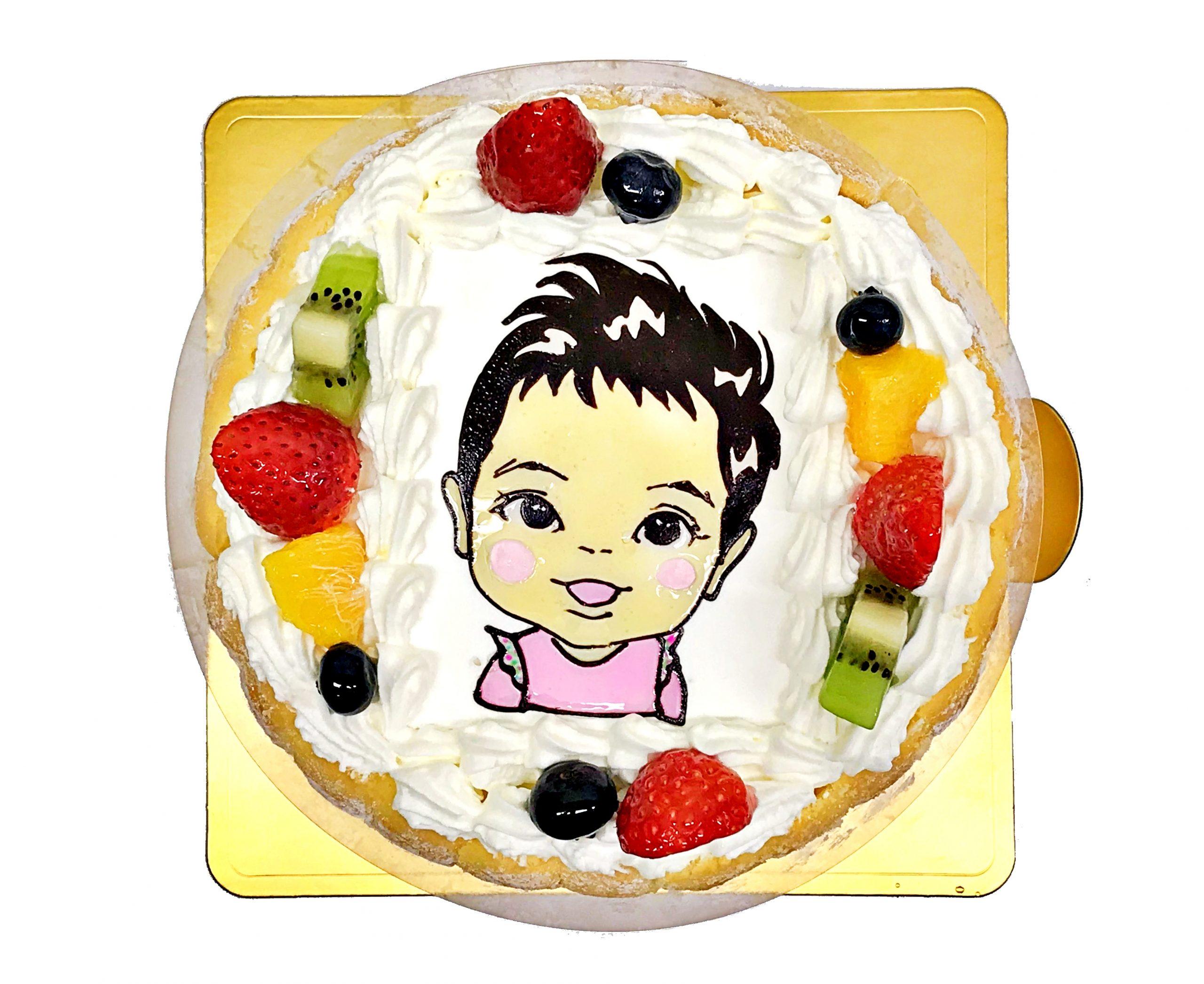 似顔絵ケーキ 子供